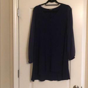 Blue long sleeve express blouse/tunic